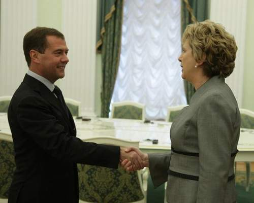 Mary McAleese With Dmitry Medvedev