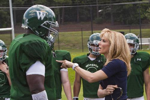 Michael Oher (Quinton Aaron) And Leigh Anne Tuohy (Sandra Bullock)In The Blind Side