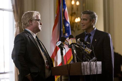 Paul Zara (Philip Seymour Hoffman) And Mike Morris (George Clooney) In The Ides Of March