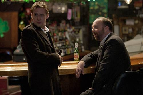 Stephen Meyers (Ryan Gosling) And Tom Duffy (Paul Giamatti) In The Ides Of March
