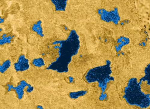 Saturn's Moon Titan's Lakes Of Methane