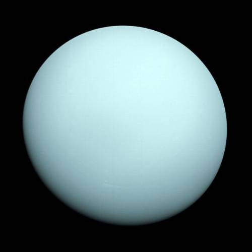 Planet Uranus Taken By Voyager