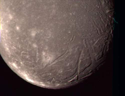 Uranus's Moon Ariel Voyager 2 Close Up