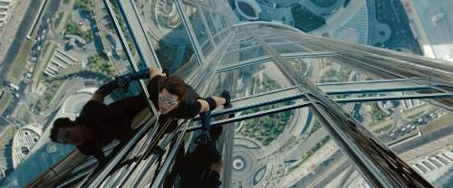 Ethan Hunt (Tom Cruise) In Mission Impossible Ghost Protocol