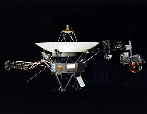 Painting Of Voyager 2 Which Flew Past Uranus's Moon Oberon