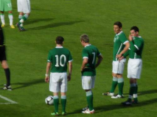Members Of The Irish Football Team Against Algeria