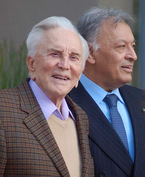 Kirk Douglas Quotes With Zubin Mehta Photo By Angela George