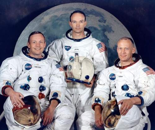 Neil Armstrong Quotes With Michael Collins And Edwin 'Buzz' Aldrin - The Apollo 11 Crew