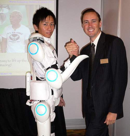 Exoskeleton Suit Impact HAL Steve Jurvetson Creative Commons ShareAlike License