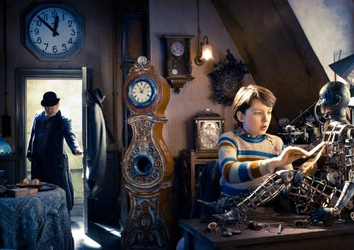 Hugo Film Review Uncle Claude (Ray Winstone) And Hugo Cabret (Asa Butterfield)