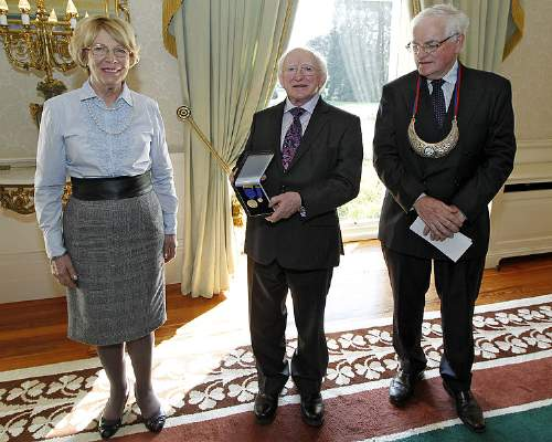 Michael D. Higgins Quotes With His Wife Sabina And Michael Egan Photo By Conor O'Mearain Wikipedia Share-A-Like License