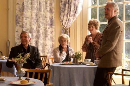 Quartet Film Review Reginald Paget (Tom Courtenay), Jean Horton (Maggie Smith), Cissy Robson (Pauline Collins) And Wilf Bond (Billy Connolly)
