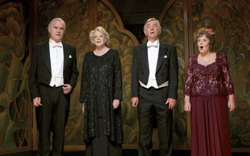 Quartet Film Review Wilf Bond (Billy Connolly), Jean Horton (Maggie Smith), Reginald Paget (Tom Courtenay) And Cissy Robson (Pauline Collins)