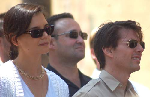 Tom Cruise With Katie Holmes Photo By Angela George