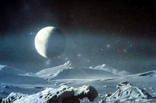 Pluto Artist's Impression Of Charon Viewed From Pluto Photo By NASA