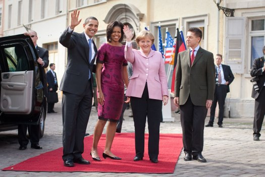 Angela Merkel Quotes With Barack And Michelle Obama Photo By Lawrence Jackson