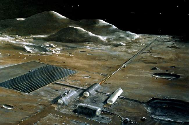 Artist's Impression Of A Lunar Colony For Mining The Moon Image By NASA