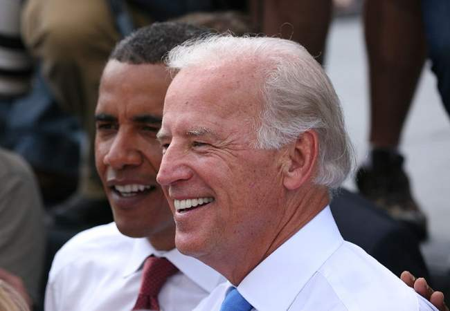 Barack Obama With Joe Biden During 2008 US Presidential Campaign Photo By Daniel Schwen Creative Commons ShareAlike Licence