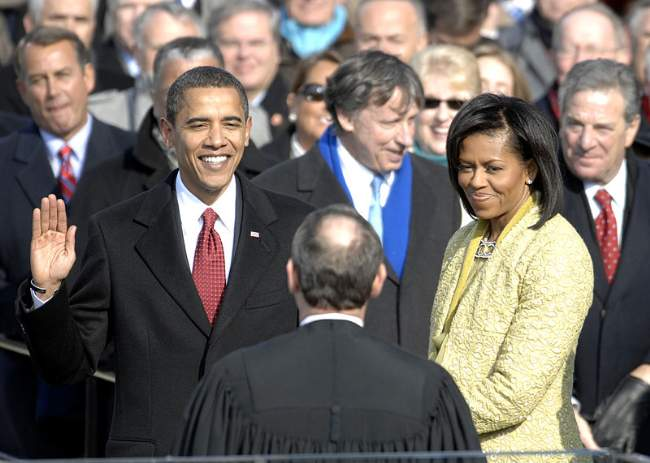 Barack Obama With Michelle In 2009 Photo By Cecilio Ricardo