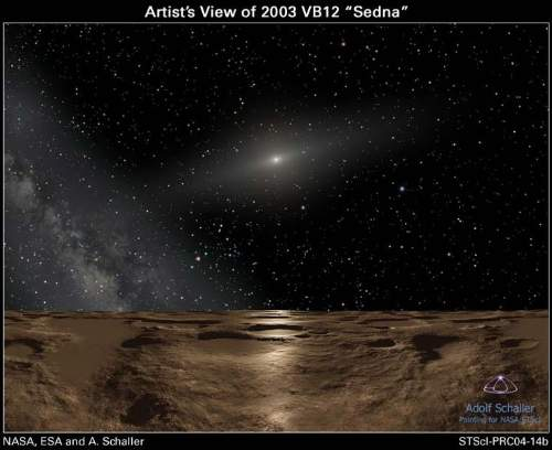 Dwarf Planet Sedna Artist Impression Of The Surface By NASA ESA Adolf Schaller