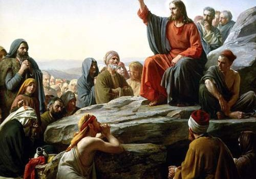 Jesus Christ Quotes Painting By Carl Heinrich Bloch - Sermon On The Mount