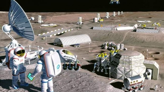 Mining The Moon Future Moon Colony Photo By NASA