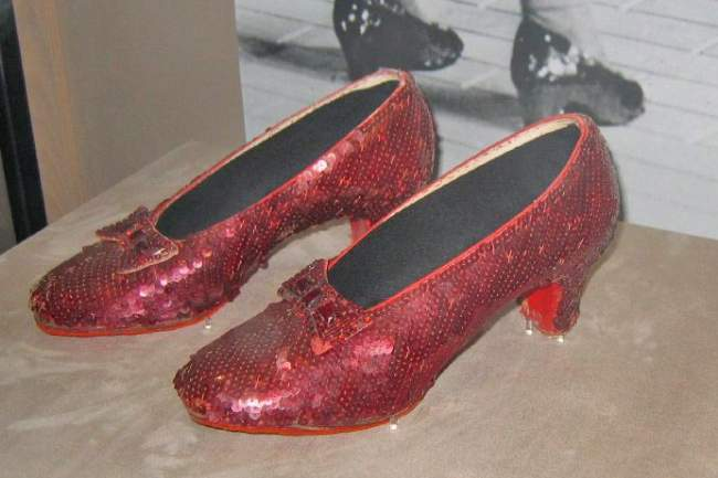 Ruby Slippers Shoes Worn By Judy Garland In The Wizard Of Oz Creative Commons ShareAlike Licence
